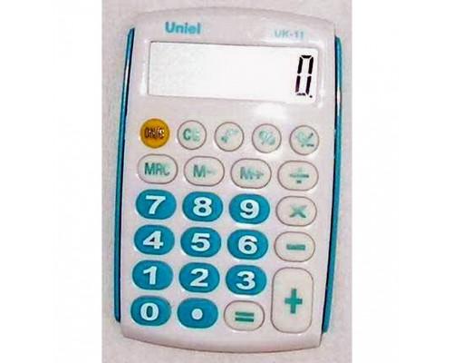 Калькулятор UK-11B UNIEL (БИРЮЗА) карманный 8 разрядов