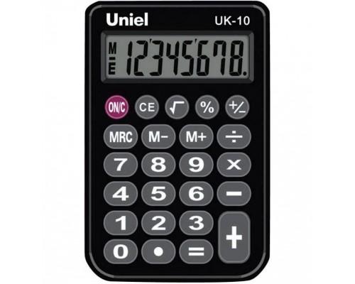 Калькулятор UK-10K UNIEL (черный) карманный 8 разрядов