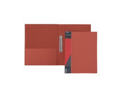 Папка 2 кольца Hatber 25мм STANDARD Красная