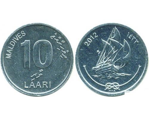 БЕЗ СКИДКИ Монета 10 лаари Мальдивы ТОП