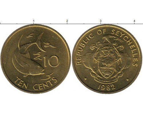 БЕЗ СКИДКИ Монета 10 центов Сейшелы ТОП