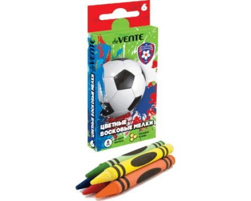 Мелки восковые 6 цветов deVENTE Football