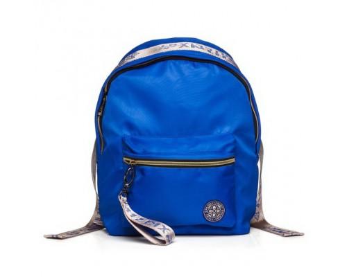Рюкзак FASHION Синий с золотом для девочки, старшая школа