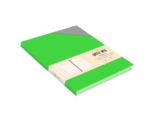 Ежедневник (недатированный) А5 136 листов искусственная кожа Daily MIX Зеленый