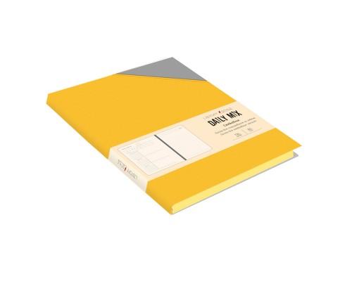 Ежедневник (недатированный) А5 136 листов искусственная кожа Daily MIX Желтый