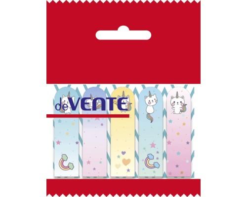 Закладки самоклеящиеся Catycorn бумажные 44x12 мм, 5x20 листов, 5 дизайнов