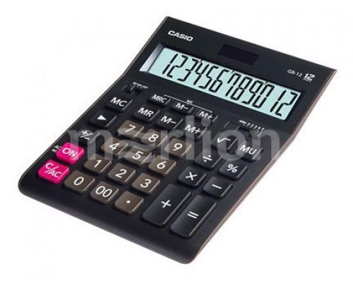 Калькулятор Casio GR-12 настольный черный 12 разрядов