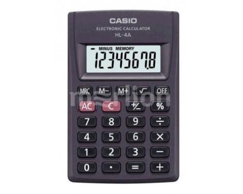 Калькулятор Casio HL-4A черный, карманный 8 разрядов