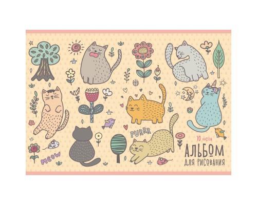 Альбом для рисования 10 листов Кошачьи забавы