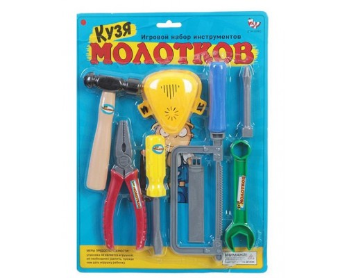 Набор инструментов Кузя Молотков, CRD 25x34x4см,ZYK-009C-1.