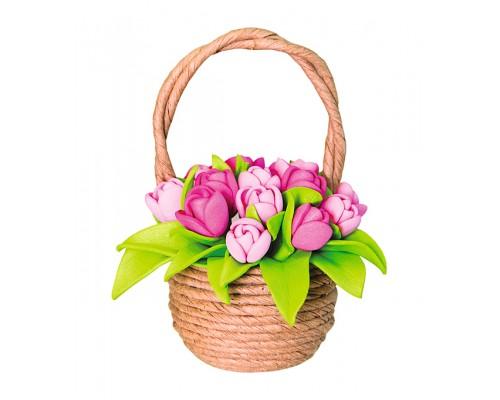 Набор для творчества Топиарий Тюльпаны в корзинке