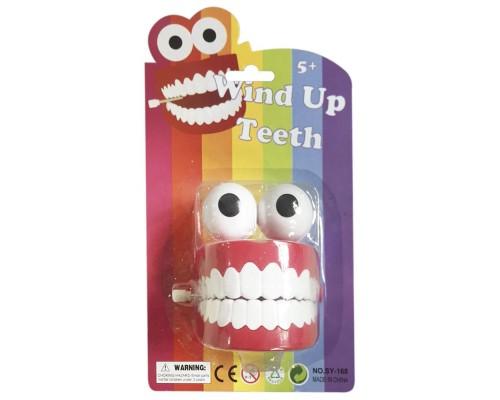 Заводная игрушка Зубы с глазами SY-168