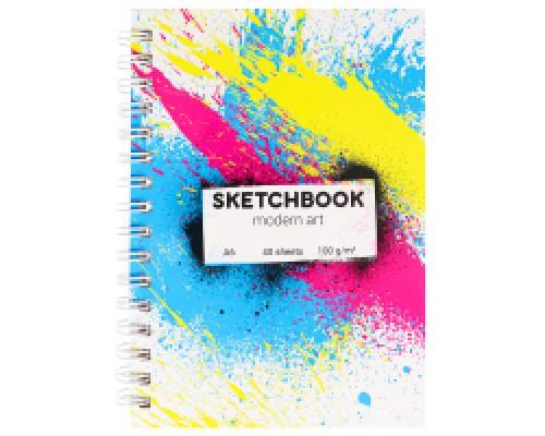 Скетчбук А6 Modern Art Khaos (7БЦ, гл лам, гребень, 40л, 100 г) С80-6341