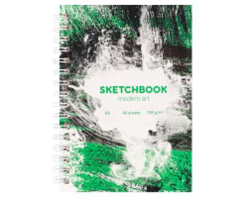 Скетчбук А6 Modern Art Brutal (7БЦ, гл лам, гребень, 40л, 100 г) С80-6339