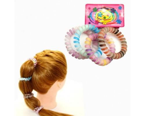 """Кан.Быт.Резинка для волос """"Цветные полоски"""", силикон,цена за 1шт ассорти 9658"""